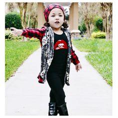 "Little Wonderland Clothing on Instagram: ""Here We Go! Olivia + her runway...  • Let the music begin.. Rocky Horror time <tap for ootd> Cool kids do the Time Warp!! #babe #fashion #fashionista #kidsfashion #girl #streetwear #fleece #hipkidfashion #trendy #style #igkiddies #stylish #stylishkids #rad #boss #love #ootd #lollipops #love #fleece #chic #epic #fashionicon #supermodel #rocknroll #alternative #rockyhorror """