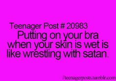 Not sure why it says teenager post but true story.