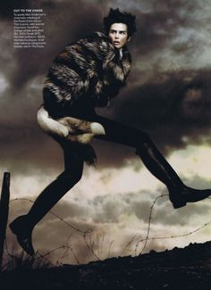 Fantastic Ms. Fox featuring Stella Tennant. Photographed by David Sims, Styled by Camilla Nickerson. October 2011, Vogue.