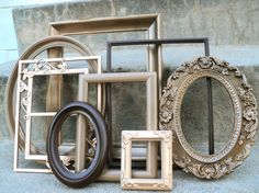 Shades of Brown Picture Frame Set Ornate