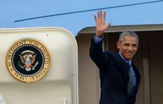 President Obama waves as he boards Air Force One after the closing ceremony of the Association of Southeast Asian Nations (Noel Celis/AFP/Getty Images) 2016