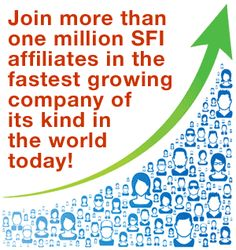 SFI Join more than SFI affiliates in the fastest growing company of its kind in the world today! FREE to join with no start-up costs. -visit our website- Home Based Business, Online Business, Home Business Opportunities, Be Your Own Boss, Free Training, One In A Million, Internet Marketing, Internet Jobs, Extra Money
