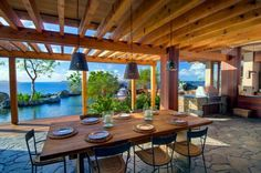 Pretty sure dinner al fresco is a common occurrence at this British Virgin Islands residence!