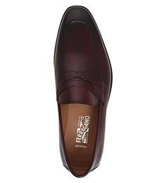 SALVATORE FERRAGAMO Tramezza leather penny loafers