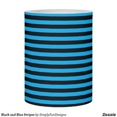 Black and Blue Stripes Flameless Candle