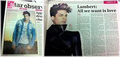 (July 2012, Australia) Adam Lambert on the cover of 'Star Observer' newspapaer | Source: @Katie Melberger