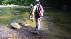 Kiulu Sabah Malaysia - September 19, 2015 : A Group Of Anglers Crossing Through Moingob River To Fish Malaysian Mahseer.The River Is Among Unpolluted River In Sabah Borneo Home For Many Tropical Fish. Stock Footage Video 11782607 - Shutterstock
