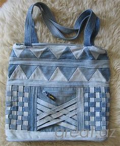 cute bag from recycled jeans