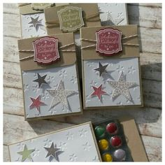 Stampin up, Adventskalender to go, simply stars, Prägefolder Sterne