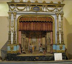 vintage puppet theatre from France