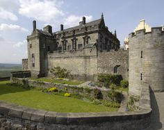 Stirling Castle - Scotland from the curtain wall looking into the Queen's garden