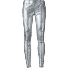 Faith Connexion metallic leggings ($1,475) ❤ liked on Polyvore featuring pants, leggings, grey, lambskin pants, metallic leggings, faith connexion, metallic pants and legging pants