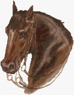 Horse Cross Stitch Pattern Downloadable pattern on site