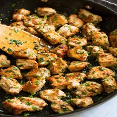 Garlic Butter Chicken Bites - the easiest 15 minute recipe that requires minimal prep and a few basic ingredients, yet it wows with flavor! A new weeknight dinner staple! Chicken Breast Recipes Healthy, Easy Chicken Recipes, Healthy Recipes, Healthy Chicken, Chicken Breats Recipes, Chicken Pieces Recipes, Keto Chicken, Keto Recipes, Diced Chicken