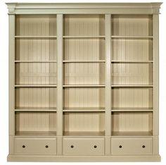 Old White Triple Bookcase