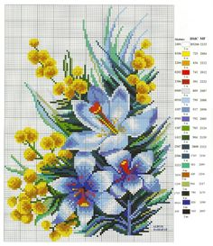 Beginning Cross Stitch Embroidery Tips - Embroidery Patterns Counted Cross Stitch Patterns, Cross Stitch Charts, Cross Stitch Designs, Cross Stitch Embroidery, Embroidery Patterns, Hand Embroidery, Cross Stitch Flowers, Le Point, Filet Crochet