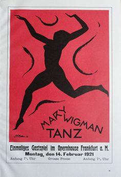 Vintage Dance Poster Tanz Turner Red And Black Dance by KingPaper, $10.00
