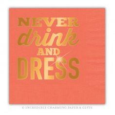 Drink Dress Copper Foil Beverage Napkins