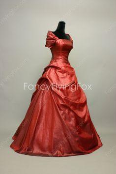 Off The Shoulder Burgundy Taffeta Ball Gown Full Length Sweet 15 Dresses