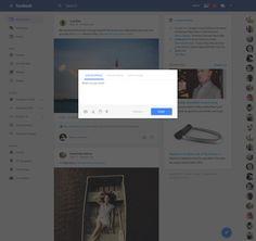 Facebook goes material. – Website by James Bergen Plummer