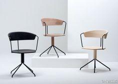 法国设计师Bouroullecs兄弟为Mattiazzi公司设计的最新作品:Uncino chairs