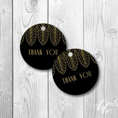 1920's | Gatsby Glam | Art Deco | Wedding | Vintage | Old Hollywood | Wedding Decor & Design | Wedding Favor Tags