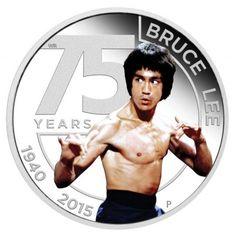 1 Dollar Silber 75. Geburtstag von Bruce Lee PP