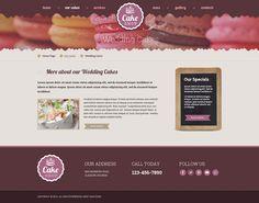 Cake shop HTML Template
