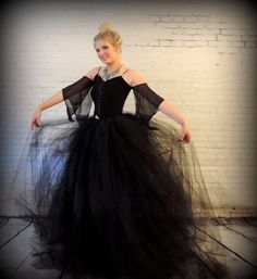 Hey, I found this really awesome Etsy listing at https://www.etsy.com/listing/246871233/floor-length-with-train-sewn-tutublack