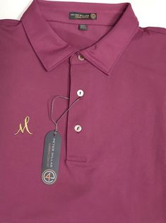 New Peter Millar Summer Comfort Pink Gold M Logo Golf Club Polo Shirt Size XXL  | eBay #golfclubs