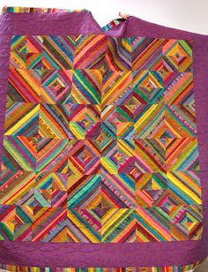 Fabulous colors and layout on this quilt by Cris of the Portland Modern Quilt Guild.