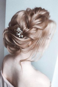 30 Wedding Hairstyles Ideas For Brides With Thin Hair ❤ wedding hairstyles for thin hair long blonde updo airy with braided texture olesya_zemskova hair care Updos For Medium Length Hair, Medium Hair Styles, Short Hair Styles, Blonde Updo, Wedding Hairstyles Thin Hair, Bride Hairstyles, Thin Hairstyles, Bridal Hair, Hair Wedding