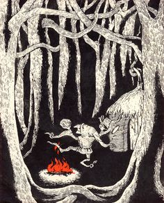 Rumpelstiltskin (scholastic, 1973), illustration by Edward Gorey