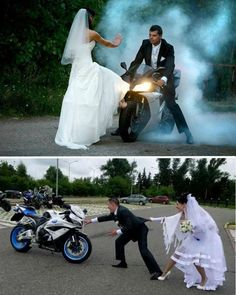 This is the end :) #bikes #wedding