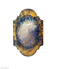 Graziano Visintin - brooch, 2012, silver, copper, enamel, gold leaf - 80 x 48 mm