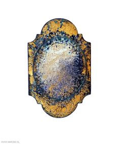 Graziano Visintin - brooch, 2012, silver, copper, enamel, gold leaf - 80 x 48 mm