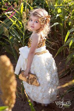 Girls Sweetheart Princess Rosette Dress by MelissaJaneBoutique