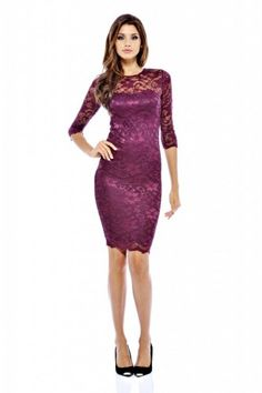 Winter Wedding Guest Dress. I love the lace and the color!