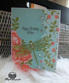 Magical Scrapworld: graceful garden, cards, colorful seasons, dragonfly dreams, petal garden, Stampin' Up!,