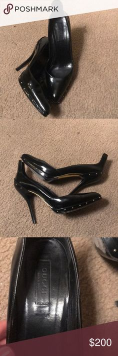Gucci Pumps with Gold Dots!! Pre loved in excellent condition!!! Gucci Shoes Heels