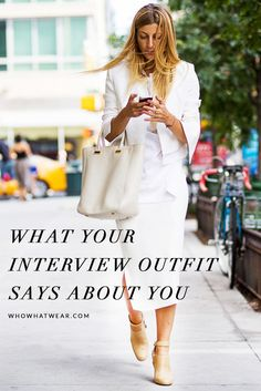 What your interview outfit says about your personality, according to experts // career tips Interview Suits, Interview Style, Business Outfits, Business Fashion, Business Attire, Office Fashion, Work Fashion, Fashion Ideas, Medical School Interview