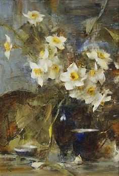 Narcissus by Laura Robb Oil ~ 16 x 11