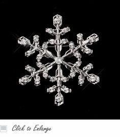 Rhinestone Holiday Snowflake Brooch