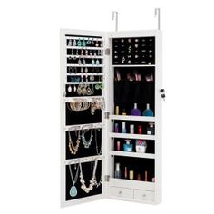 FirsTime & Co. 43 in. Rustic Arch Jewelry Armoire-81007 - The Home Depot Wall Mounted Jewelry Armoire, Mirror Jewellery Cabinet, Jewelry Mirror, Jewellery Storage, Jewellery Organization, Storage Mirror, Locker Storage, Storage Rack, White Mirror