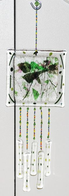 Windchimes made with fused glass