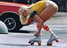 Hot pants, high socks and rollerskates
