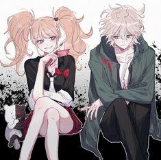 Junko x Nagito Danganronpa Junko, Super Danganronpa, Danganronpa Memes, Danganronpa Characters, Izuru Kamukura, Pink Blood, Color Mixing Chart, Otaku, Okikagu