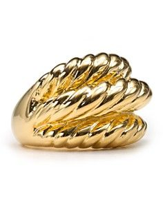 Ribbed gold. Kenneth Jay LaneRibsGold ...