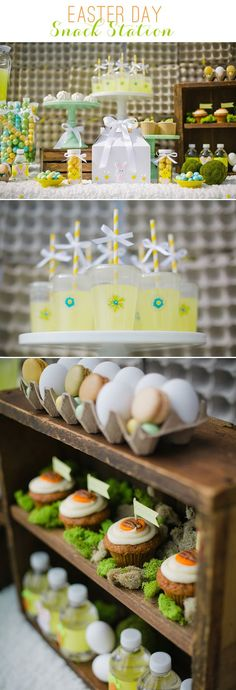 Easter Snack Station – Treats, Egg Carton Backdrop & Gable Box Favor Craft | with @christcn: