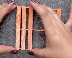 Glue Remaining Sticks | Make Mini Pallet Coasters From Popsicle Sticks